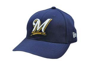 MLB Milwaukee Brewers Vintage Old School New Era Navy Blue Gold Snapback Hat Cap