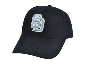 MLB San Diego Padres Sparky Corduroy Adjustable Constructed Velcro Black Hat Cap