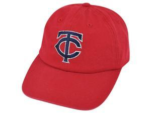 MLB Minnesota Twins Shiver Women Ladies Garment Wash Red Clip Buckle Hat Cap