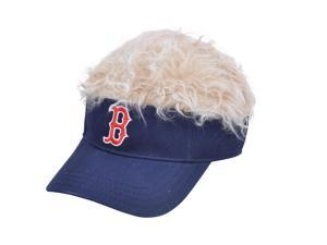 MLB Boston Red Sox Creed Flair Beige Hair Visor Adjustable Fan Velcro Hat Cap