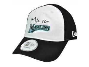 MLB New Era Florida Marlins Toddler Youth Baseball Flex Fit Hat Cap White Black