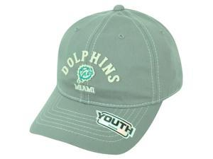 NFL Miami Dolphins Reebok Youth Adjustable Velcro Authentic Gray Cap Hat DH1460