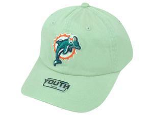 NFL Miami Dolphins Logo Reebok Youth Adjustable Clip Buckle Khaki Cap Hat DH1541