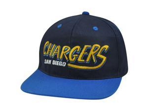NFL San Diego Chargers Flat Bill Old School Vintage Style Twill Snapback Hat Cap
