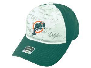 NFL Miami Dolphins Reebok Women's Clipbuckle White-Aqua Silver Cap Hat DH1686