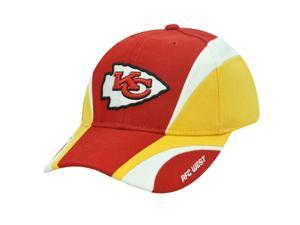 NFL Kansas City Chiefs AFC West Reebok Red Yellow White Velcro Cotton Construct