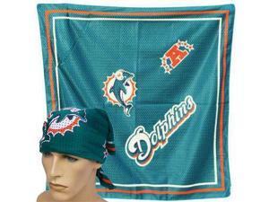 Nfl Miami Dolphins Jersey Football Bandana Scarf Fandana Teal Orange Licensed