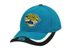 NFL Jacksonville Jaguars Teal Blue Black White Velcro Cotton Cap Hat Licensed