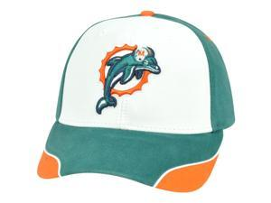 NFL Miami Dolphins Logo Adjustable Curved Bill Velcro Constructed Hat Cap XZ508