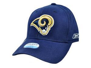 NFL St Louis Rams White Blue Gold Reebok Flex Fit Constructed Cap Hat Licensed