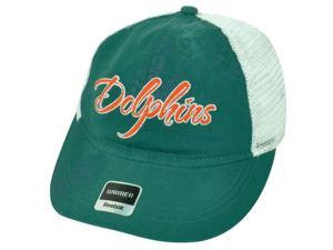 NFL Miami Dolphins Reebok Women's Adjustable Snap Back Green Mesh Cap Hat DH1688