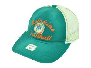 NFL Miami Dolphins Football Reebok Women Snap Back Green Mesh Cap Hat DH1687