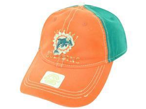 NFL Miami Dolphins Reebok Women's Clip Buckle Retro Orange Green Cap Hat DH1612