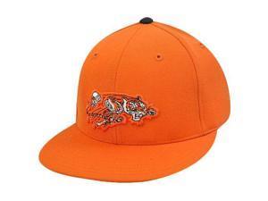 Cincinnati Bengals Throwback Nfl Logo Mitchell & Ness Hat Flat Bill Fitted 7 1/8