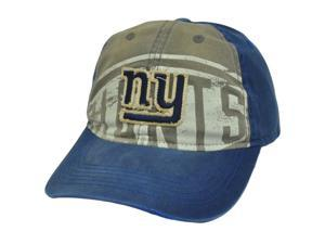 NFL Reebok New York Giants Garment Wash Distressed Clip Buckle Slouched Hat Cap