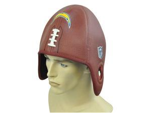 NFL San Diego Chargers Reebok Faux Leather Football Shaped Hat Cap Helmet Head