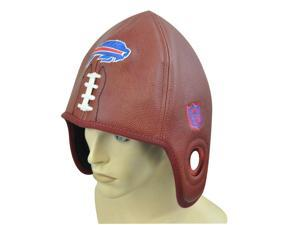 NFL Buffalo Bills Reebok Football Shaped Brown Hat Cap Helmet Head Faux Leather