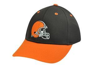 Nfl Cleveland Brown Helmet Cotton Orange Velcro Hat Cap