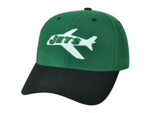 NFL Reebok NY New York Jets Dark Forest Green White Velcro Logo Licensed Hat Cap