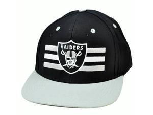 NFL Oakland Raiders Black Gray White Authentic Reebok Snapback Flat Bill Hat Cap