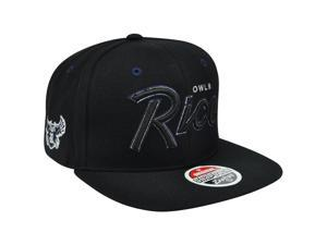 NCAA Rice University Owls Headliner Black Adjustable Snapback Flat Bill Hat Cap