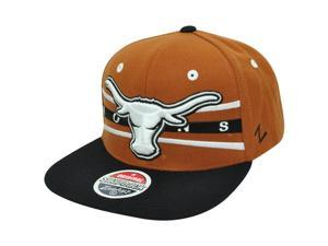 Texas Longhorns Zephyr NCAA Snapback Flat Bill Front Runner Two Tone Hat Cap
