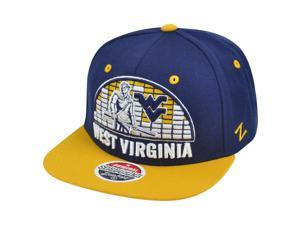 NCAA Zephyr West Virginia Mounatineers 32/5 Equalizer Snapback Flat Bill Hat Cap
