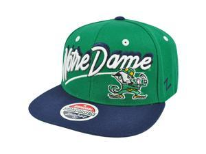 NCAA Zephyr Shadow Script Notre Dame Fighting Irish Original Snapback Hat Cap
