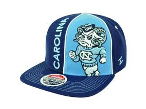NCAA Zephyr North Carolina Tar Heels Hype Snapback Flat Bill Adjustable Hat Cap