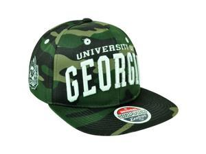 NCAA Zephyr Georgia Bulldogs Dawgs Super Star Camo Flat Bill Snapback Hat Cap