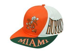 NCAA MIAMI HURRICANES SNAP BACK FLAT BILL VINTAGE HAT