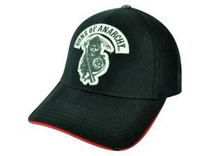Sons of Anarchy Flex Fit Medium Large TV Show Outlaws Reaper Skulls Hat Cap