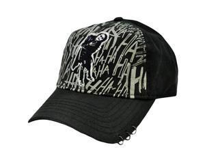 Batman DC Comics The Dark Knight Joker Heath Ledger Black Gray Velcro Hat Cap