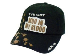 I've Got Mud in My Blood Truck 4x4 Adjustable Velcro Black Hat Cap H3 Sportsgear