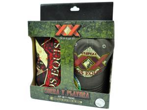 Dos Equis XX Beer Bottle Opener Hat Cap Gorra Playera Medium TShirt 2 Piece Set