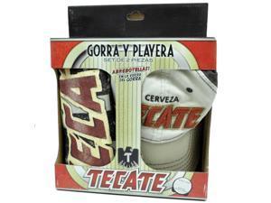 Tecate Beer Bottle Opener Hat Cap Large LG T Shirt Gorra Playera 2 Piece Set
