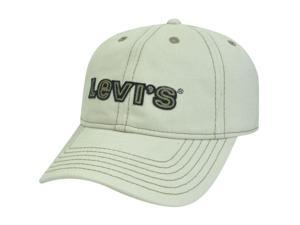 Levis Famous Denim Jeans Faux Leather Strap Garment Wash Buckle Beige Hat Cap