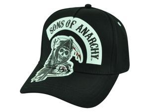 Sons of Anarchy One Size Flex Fit TV Show Samcro Reaper Skulls Black Hat Cap