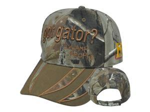 Swamp People No Guts No Gator Got Alligator History Channel Velcro Camo Hat Cap