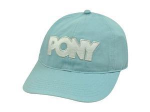 PONY WOMENS LIGHT BLUE SILVER WHITE BASEBALL HAT CAP