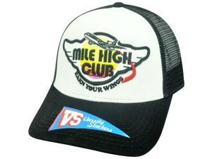 Mile High Club Earn Your Wings Mesh Snapback Mesh Airplane Two Tone Hat Cap