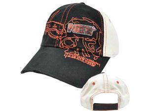 NOS Brand Youth Child Kids Vintage Style Black Khaki Red Hat Cap Cotton Velcro