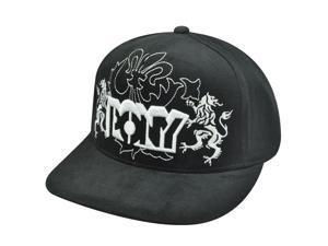 PONY WHITE BLACK HAT CAP FLAT BILL UNISEX SNAP BACK