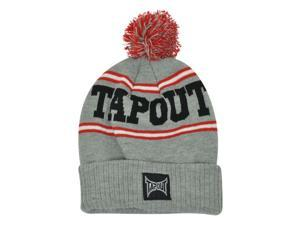 Tapout Toque MMA UFC Pom Pom Striped Cuffed Knit Beanie Cage Fighting Hat Skull
