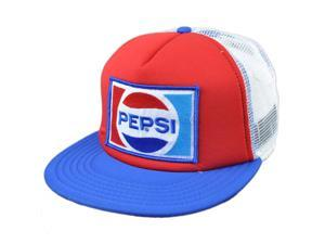 Foam Pepsi Mesh Snapback Flat Bill Beverage Soda Trucker Fountain Drink Hat Cap