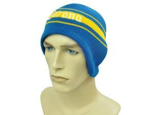 HAT KNIT BEANIE TOQUE EAR FLAPS CORONA BEER CERVEZA BLUE YELLOW AMERICAN NEEDLE