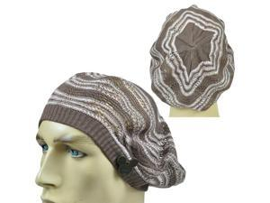 Disney Couture World Land Thin Open Weave Slouchy Tami Beret Knit Beanie Hat