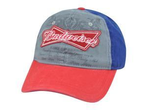 Budweiser Distressed Snapback King of Beer Liquor Garment Wash Relaxed Hat Cap