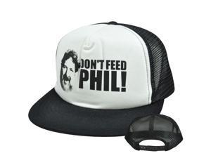 Viva La Bam Margera Dont Feed Phil MTV Flat Bill Mesh Trucker Snapback Hat Cap