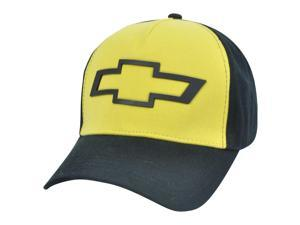 Chevrolet General Motors GM Chevy Car Brand Sun Buckle Yellow Curved Bill Hat Cap
